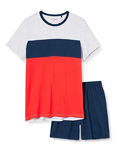 Schiesser Jungen Anzug Kurz Zweiteiliger Schlafanzug, Blau (dunkelblau 803), (Herstellergröße:152)