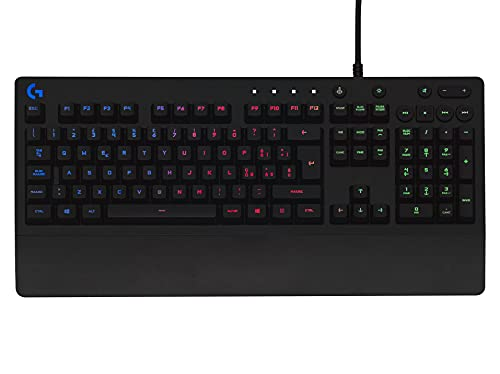 Logitech G213 Prodigy Gaming Keyboard, RGB Lightsync Backlit Keys, Spill-Resistant, Customizable Keys, Dedicated Multi-Media Keys, QWERTY Spanish Layout, Nero