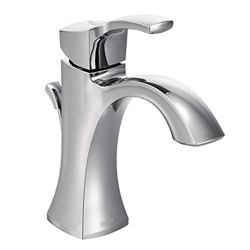 Moen 6903 Voss One-Handle Single Hole Bathroom Sink Faucet with Optional Deckplate, Chrome