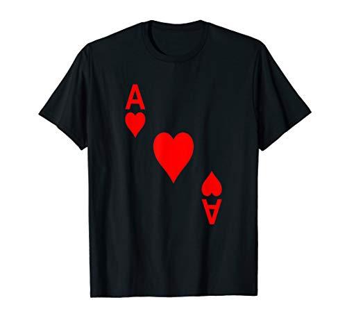 Herz As Skat Poker Kartenspiel Kostüm Fasching Karneval T-Shirt
