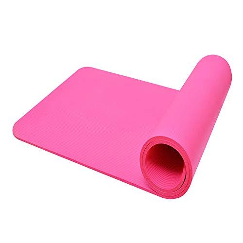 A/A 1830x600x10 mm Esterilla de yoga universal antideslizante protección ambiental Pilates Esterilla de ejercicio (rosa)