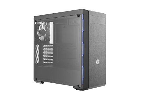 Cooler Master, MCB-B600L-KA5N-S01, MasterBox MB600L con ODD, Blue Trim Case per PC, ATX, MicroATX, Mini-ITX, USB 3.0, con Finestra Laterale
