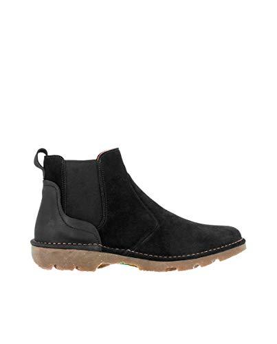 El Naturalista Damen Stiefeletten Forest, Frauen Chelsea Boots, Woman Freizeit Stiefel halbstiefel Bootie Schlupfstiefel,Schwarz(Black),39 EU / 6 UK