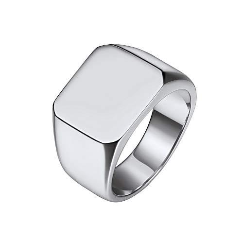 Custom4U Anello da mignolo in Argento per Uomo, Anello di Compleanno per papà, Anello di Natale per Fidanzato (con Confezione Regalo)