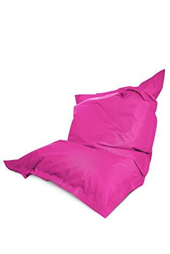 Green Bean © Square XXL Riesensitzsack 140x180 cm - 380Liter EPS Perlen Füllung - PVC Bezug - In- und Outdoor Sitzsack für Kinder und Erwachsene - Sitzkissen Bean Bag Bodenkissen - Rosa