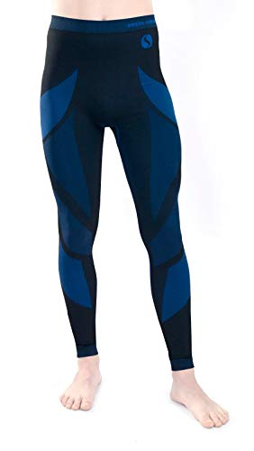 Sesto Senso® Uomo Intimo Termico Pantaloni Lunghi Funzionale Sottopantaloni Leggings Biancheria Intima Termoattivo (XL, Blu)