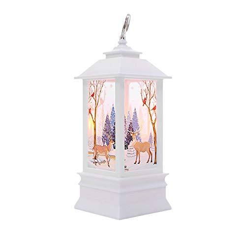 Wanshop Weihnachtskerze mit LED Tee licht Kerzen für Weihnachtsdekoration Teil Auß Hnliche Beleuchtet Adventsschmuck (E)