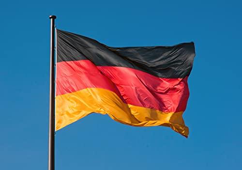TK Gruppe Timo Klingler Flagge 60 * 90 cm Deutschland schwarz, rot, gelb (Gold), als Deko, Dekoration, Partydeko für Fußball, Fußball Europameisterschaft EM 2021 (60 * 90)