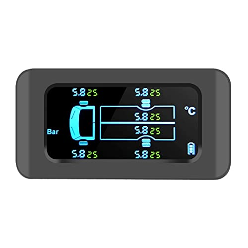 YKAMM Save Fuel Tire Pressure Monitoring System Solar Smart Car TPMS 6 Sensors Digital LCD Display Auto Security Alarm