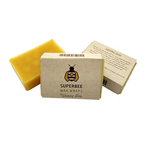 SuperBee Pastille de Cire d'abeille Spéciale pour Bee Wraps, DIY. Melange de Résine d'arbre et Huile de Noix de Coco, pour Faire jusqu'à 12 Feuilles de Bee Wrap ou 1 m² de Tissu