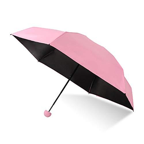 Leobtain Mini Folding Travel Capsule Umbrella Compact Schnelltrocknend Ultraleicht Anti-UV Elegant Umbrella Fashion Tragbarer Taschenschirm mit Niedlichem Kapseletui für Frauen Kinder