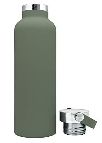 NERTHUS FIH 765 Botella Termo Tapón Asa Doble Pared para frios y Calientes Color Verde...