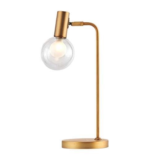 Lámparas de Mesa Lampara mesita noche Lámpara de mesa industrial pequeñas lámparas for el dormitorio, oficina, dormitorio, latón de noche Mesilla de noche de la lámpara de cristal de la bola pequeña l