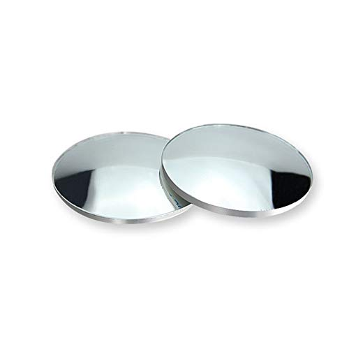 lxxiulirzeu 2 unids Coche 360 Grados sin Marco Ciego Espejo Espejo Gran Angular Redondo Convexo Espejo pequeño Lado Redondo Lado ctimspot retrovisor estacionamiento Espejo (Color : 2PCS)
