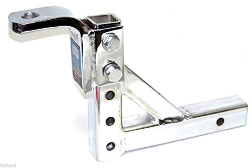 Why Should You Buy Adjustable 10 Trailer Drop Hitch Chrome Ball Mount for 2 Receiver Heavy Duty