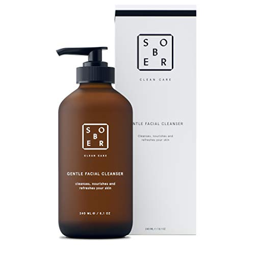 sober® | Gentle Facial Cleanser | Milder und tensidarmer Gesichtsreinigung mit Aktivkohle zur Bekämpfung von Mitesser, Pickel und Akne | Für unreine und fettige Haut geeignet