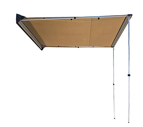 DANCHEL OUTDOOR Car Side Awning for Camping SUV Trailer Offroad Gear Canopy Sunshade Tent Tarp Khaki 6.5x10ft