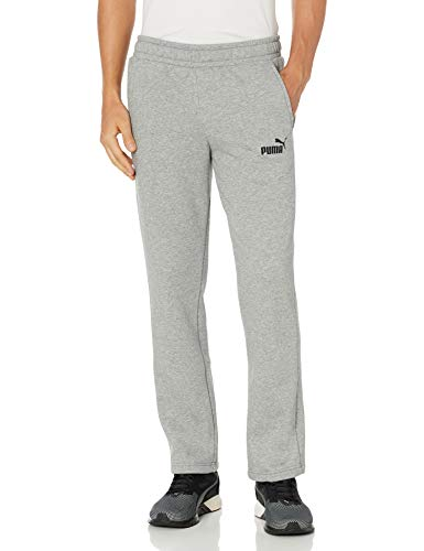 PUMA Men's Essentials Fleece Pants, Cotton Black, Medium