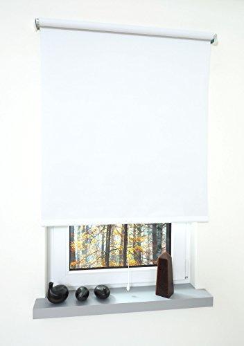 Liedeco® Rollo, Spring-, Schnapprollo / 142 x 180 cm (Breite x Höhe), weiß/Verdunkelnd, Abdunkelnd, Blickdicht/viele Farben, Größen und Typen/Breiten 60-200 cm/Variable Montage möglich