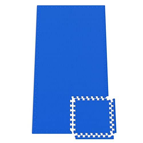 Monzana 8er Set Bodenschutzmatte 45x45x1cm Puzzlematte 1,62m² Schaumstoff Poolmatte Fitness Matte Fitnessmatte Bodenmatte
