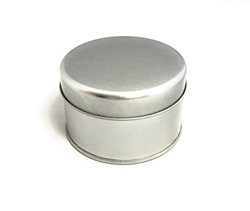 "Tin Cans (6 Oz), 3"" x 2.6"", 12 Pack- For Creams, Art and Crafts, Storing Spices and Candy, and More"