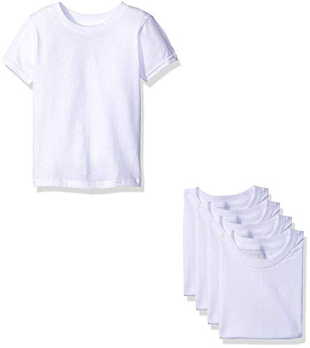 Fruit of The Loom Boys' Cotton White T Shirt (2T/3T(28-33') lbs, Toddler - White Ice (5 Pack))