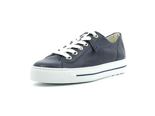 Paul Green Damen Sneaker 4960, Frauen Low-Top Sneaker, Halbschuh strassenschuh schnürer schnürschuh sportschuh Plateau-Sohle,Space,39 EU / 6 UK