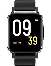 """SoundPEATS Smartwatch Fitnesstracker Klok armband met 1,4 """"touch scherm 12 sportmodi Sporthorloge met stappenteller stopwatch hartslagmeter oproep IP68 waterdicht voor kinderen vrouwen mannen zwart"""