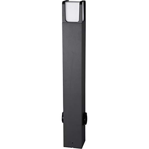 LED Tuinverlichting - Buitenlamp met Stopcontact - Trion Ibroly XL - Staand - 6W - Mat Zwart - Aluminium