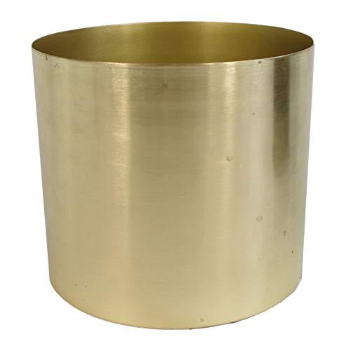 Leaf LEAF-7201 Design UK Metal Brass Planter Plant Pot 20 x 18cm, Gold