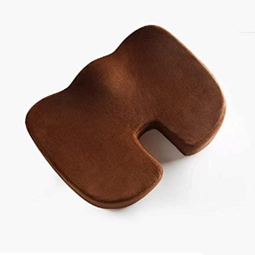 HAPPY-HAT Gel zitkussen, helpt bij ischias rugpijn -autokussen voor zwangere vrouwen perfect voor uw bureaustoel en zitten op de vloer geeft verlichting comfort traagschuim zitkussen