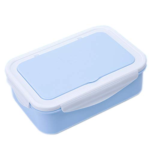 Bento Box for Kids Adults Lunches Leakproof Adult 3 Compartment Lunch Box Reusable Plastic Bento Boxes Food Containers Environmental Protection Bento Box MicrowaveFreezerDishwasher Blue