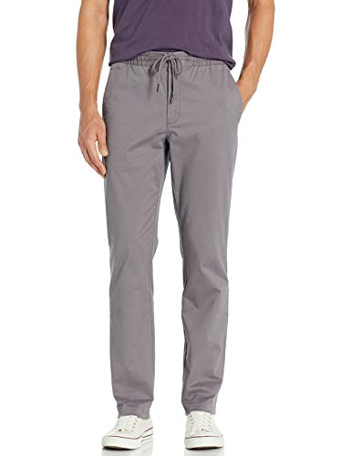 Amazon Brand - Goodthreads Men's Straight-Fit Washed Chino Drawstring Pant, Grey XXX-Large/32\