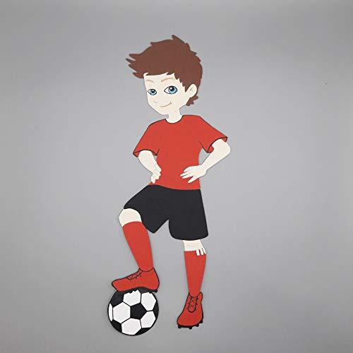 FUSSBALL Fussballspieler Fussballer MOTIV zum Gestalten einer Schultüte HANDARBEIT Jungen Mädchen exklusiv von AniPolDesign aus Hamburg