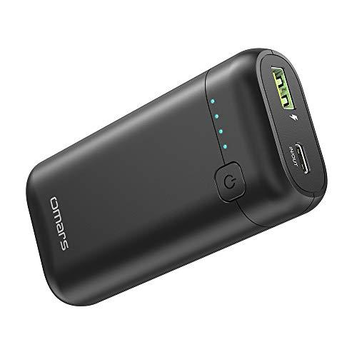 Powerbank Externe Batterie Kleine Omars 10000mAh 2-Port USB C Stromversorgung und USB A Schnellladestrombank für iPhone 11/X/8/8Plus iPad/iPad Pro/iPad Mini Samsung Note 8