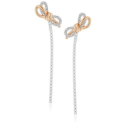Swarovski Orecchini Lifelong Bow, Bianco, Mix Di Placcature
