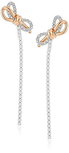 Swarovski Orecchini Lifelong Bow, Bianco, Mix Di Placcature