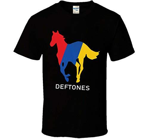 Deftones Horse T Shirt Homme Coton Graphique Manches Courtes Col Rond Imprimé O-Cou Tops Doux Drôle Sport Officiel Loisirs Noir Blanc