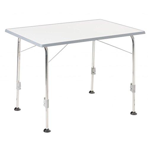 STABIELO klaptafel - 9 kg - 50 kg draaglast - robuust aluminium staal - campingtafel 100 x 68 cm kleuren lichtgrijs - traploos in hoogte verstelbaar van 56 naar 72 cm - aluminium onderstel - Verdrijf - Holly® producten STABIELO - holly sunshade -