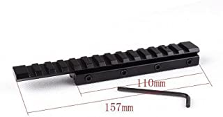 GOTICAL 14 Slot Extension Low Profile Airgun/.22 Dovetail Rail 11mm to 20mm Weaver Picatinny Rail Adapter Scope Mount Converter