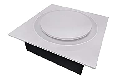 Aero Pure ABFS0511D6W ABFS0511 D6 50-80-110 CFM, Energy Star Certified, White Quiet Bathroom Ceiling and Wall Mount Ventilation Fan