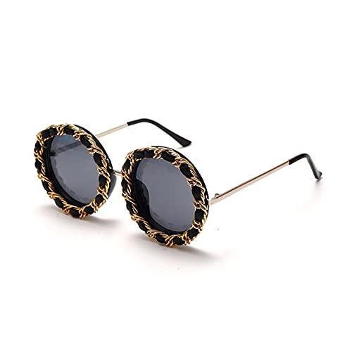 Vintage Redondo Gafas de Sol Mujeres Chicas Retro Steampunk Gafas de Sol Niños Loy Eyeglasses de Lujo Eyewear UV400 (Color : 1, Size : 130 * 40 * 125mm)