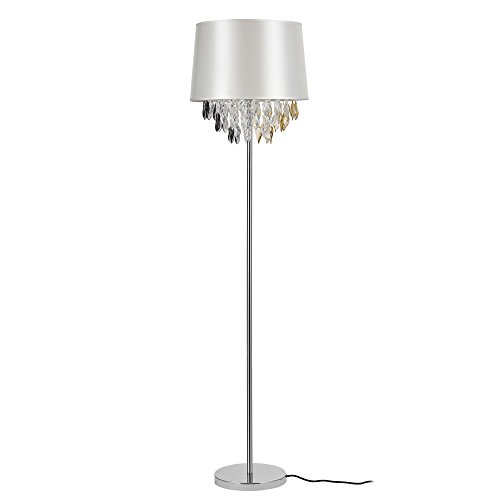 Stehleuchte 'Royality' 1 x E27 Stehlampe 165 cm Silber Kristallbehang Lampe Wohnzimmerlampe Leuchte Standleuchte