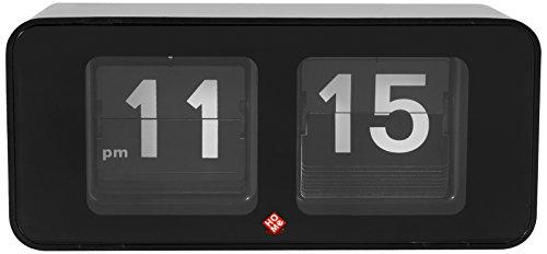 HOME Flip Flop Reloj de Mesa, Plástico, Negro
