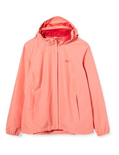 Jack Wolfskin Damen Stormy Point Jacket W Atmungsaktive Regenjacke, Desert Rose, XL