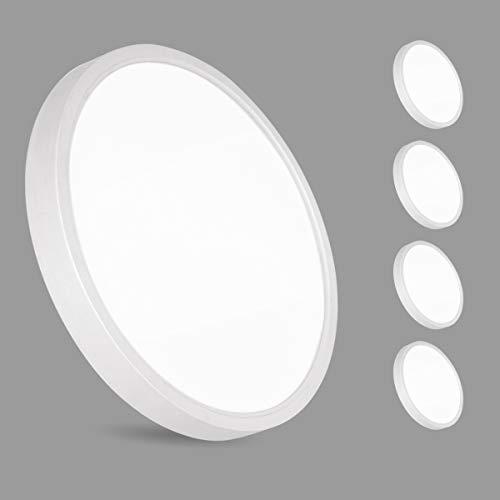 4er 36W LED Deckenleuchte, bapro Deckenlampe Bad 2200LM 3000K Warmweiß Mordern Badezimmerlampe für Badezimmer Küche Wohnzimmer Balkon Flur Schlafzimmer Büro