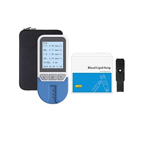 WCCCY Prueba Casera Fácil de Usar Multifunción 5 En 1 CHDL, LOL, HDL Y Probador De Colesterol Total para El Analizador De Lípidos para El Hogar para El Paciente Y El Anciano con 25 PC Strips