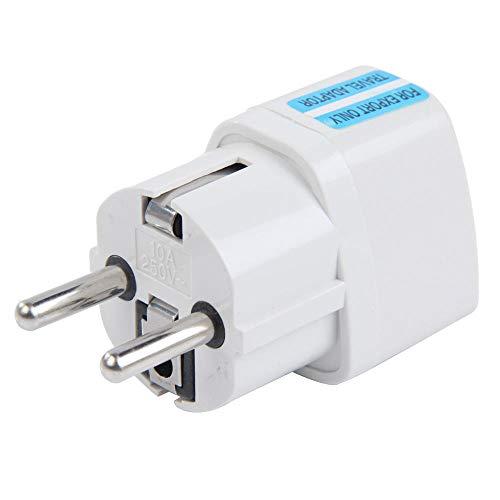 Convertidor de adaptador de corriente de viaje blanco Conveniente convertidor de enchufe de pared 85-250V Enchufe de UE GR de Reino Unido AU GR-Enchufe de Alemania