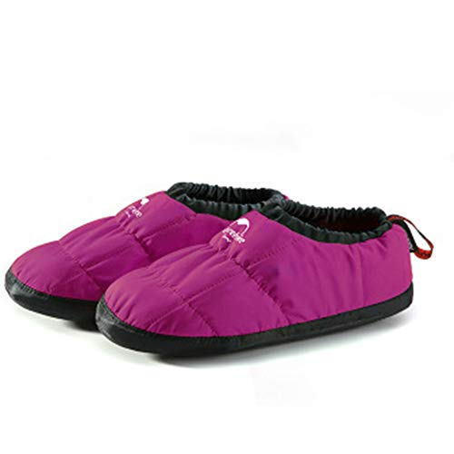 Down-Hausschuhe warme Socken Leicht, Camping Wandern Schlaf Socken für Outdoor-Winter-Camping in Down Schuhe Fußschutz Camp,d,M