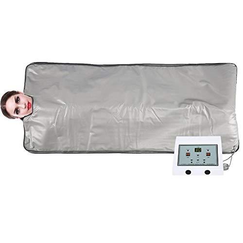 Manta de sauna, manta adelgazante de infrarrojo lejano Manta de seguridad Calefacción Máquina de modelado del cuerpo Manta para quemar grasa para pérdida de peso, Belleza profesional para el hogar(UE)